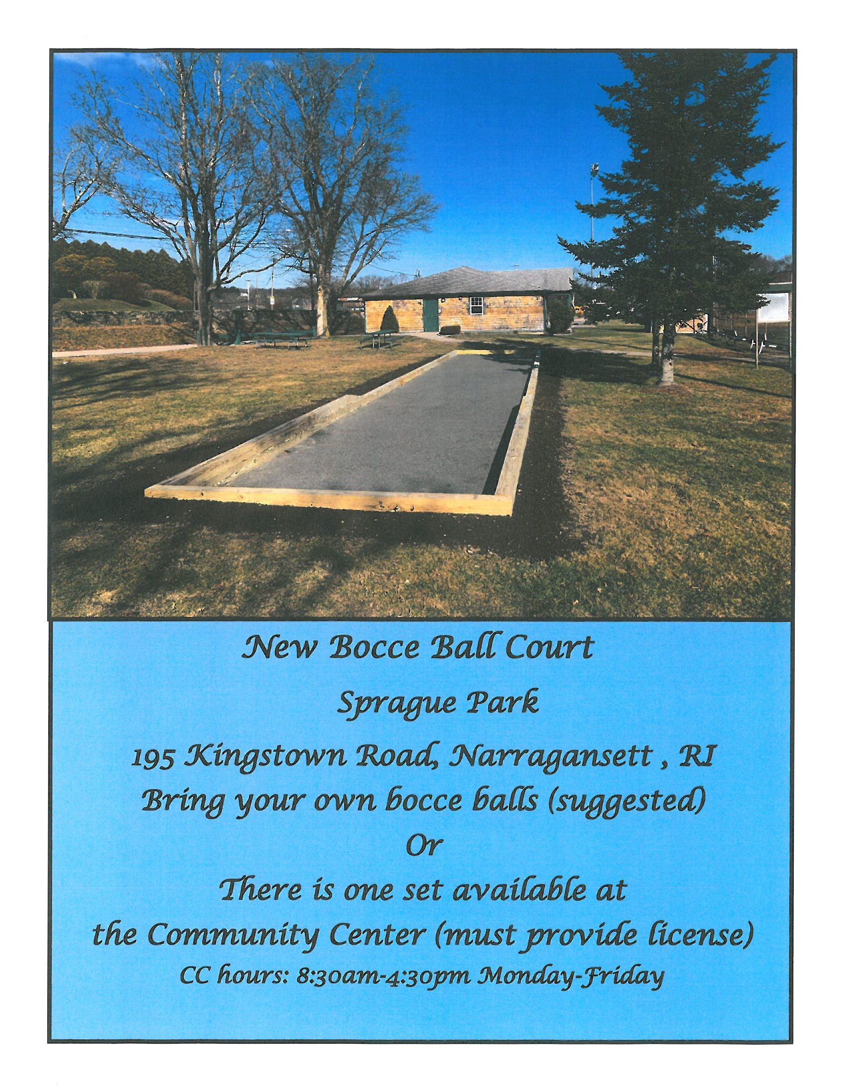 Bocce Court Flyer